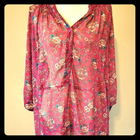 Pure Energy Tops - Floral Blouse